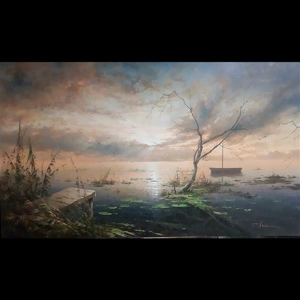 هنر نقاشی و گرافیک محفل نقاشی و گرافیک tahereh akbari نام اثر : تالاب تکنیک : رنگ و روغن روی بوم سال خلق اثر 1399 نام هنرمند : طاهره اکبری