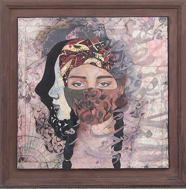 هنر نقاشی و گرافیک محفل نقاشی و گرافیک حنا باقری  میکس مدیا، اکریلیک، ۱۴۰۰، حنا باقری