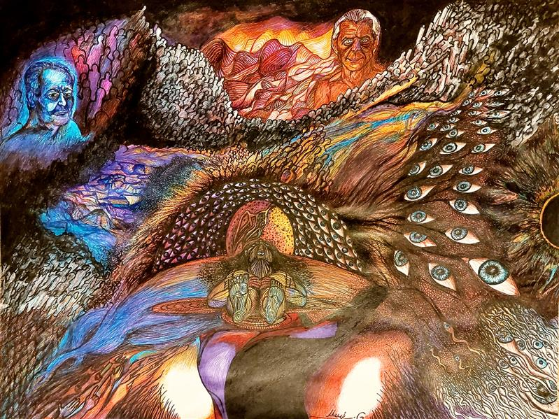 هنر نقاشی و گرافیک محفل نقاشی و گرافیک معراج گل زاده ماژیک. خودکار رنگی، راپید