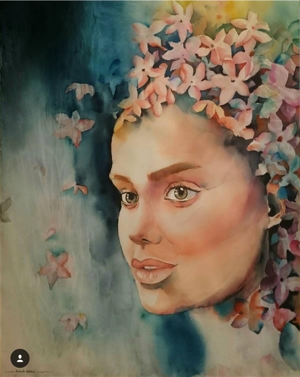 هنر نقاشی و گرافیک محفل نقاشی و گرافیک زینب آقایی  آبرنگ از مجموعه طبیعت مادر سایز ۵۰×۷۰ سانت