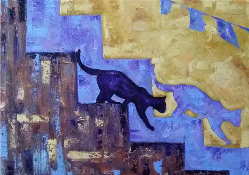 هنر نقاشی و گرافیک محفل نقاشی و گرافیک Reza karimnejad رنگ روغن روی بوم 50x70 cm