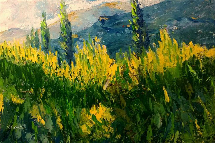 هنر نقاشی و گرافیک محفل نقاشی و گرافیک Reza karimnejad کار در طبیعت رنگ روغن روی بوم 60 x40 cm