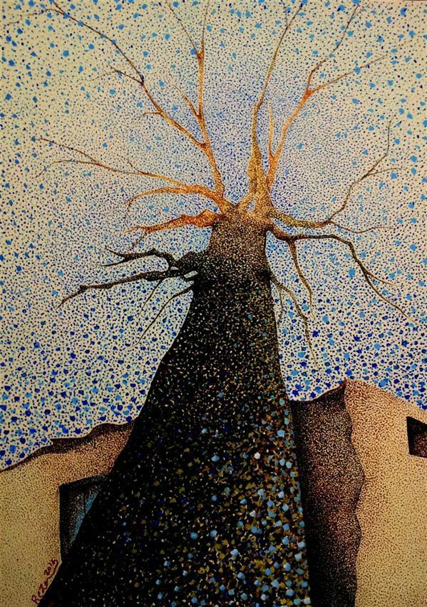هنر نقاشی و گرافیک محفل نقاشی و گرافیک Reza karimnejad گواش روی مقوا  100x70 cm