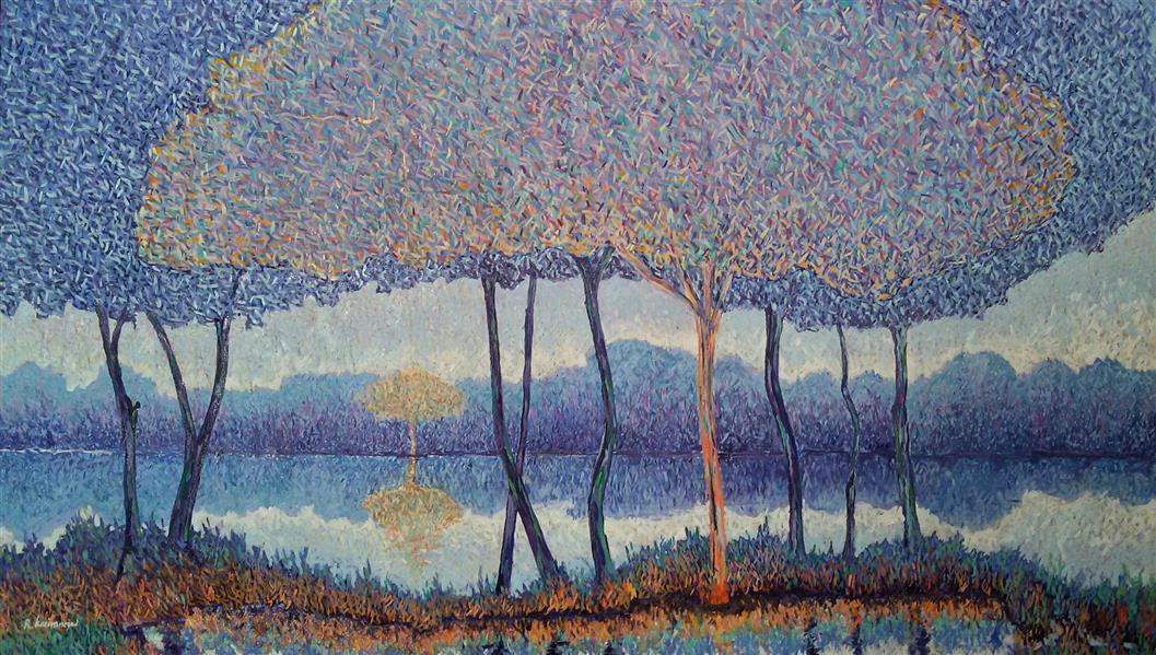 هنر نقاشی و گرافیک محفل نقاشی و گرافیک Reza karimnejad رنگ روغن روی بوم #فروخته_شد 140x80cm