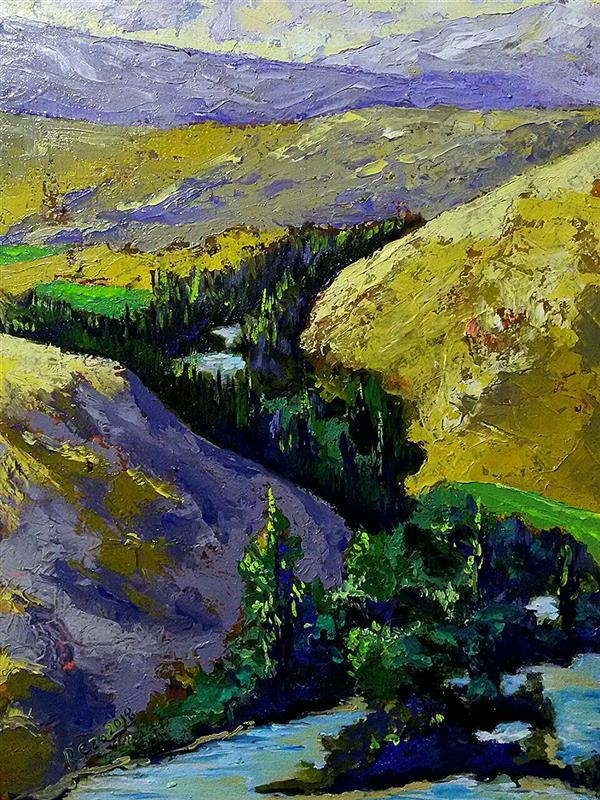 هنر نقاشی و گرافیک محفل نقاشی و گرافیک Reza karimnejad کار در طبیعت رنگ روغن روی بوم 30x40 cm