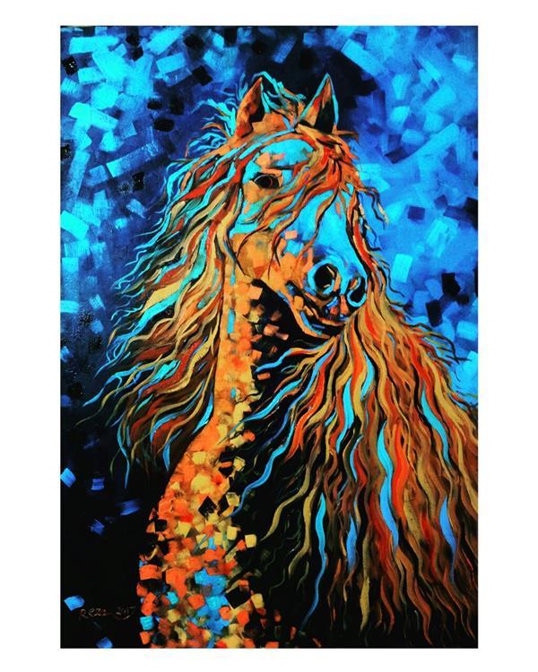 هنر نقاشی و گرافیک محفل نقاشی و گرافیک Reza karimnejad رنگ روغن روی بوم #فروخته شد 100x70 cm