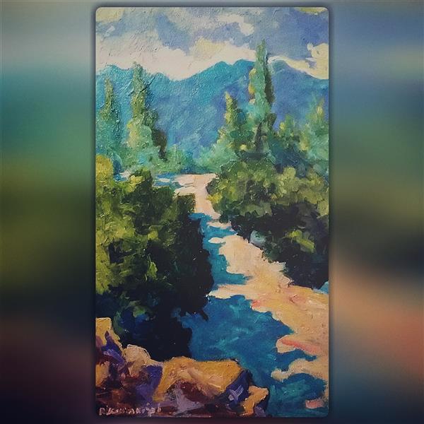 هنر نقاشی و گرافیک محفل نقاشی و گرافیک Reza karimnejad رنگ رو غن روی بوم30x48 cm