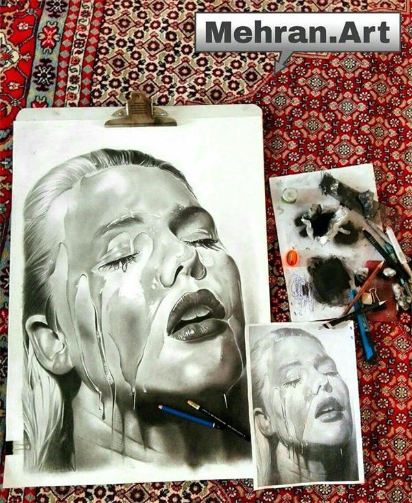 هنر نقاشی و گرافیک محفل نقاشی و گرافیک مهران رحمانی تکنیک سیاه قلم