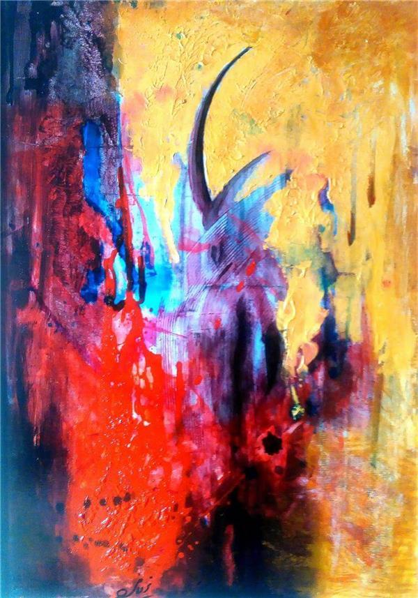 هنر نقاشی و گرافیک محفل نقاشی و گرافیک باربدیزدانی نقاشی مدرن  .  اکرولیک  روی بوم .100/70