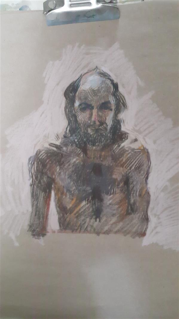 هنر نقاشی و گرافیک محفل نقاشی و گرافیک Soheil Azhary در شرایط قرنطینه، جلو آینه