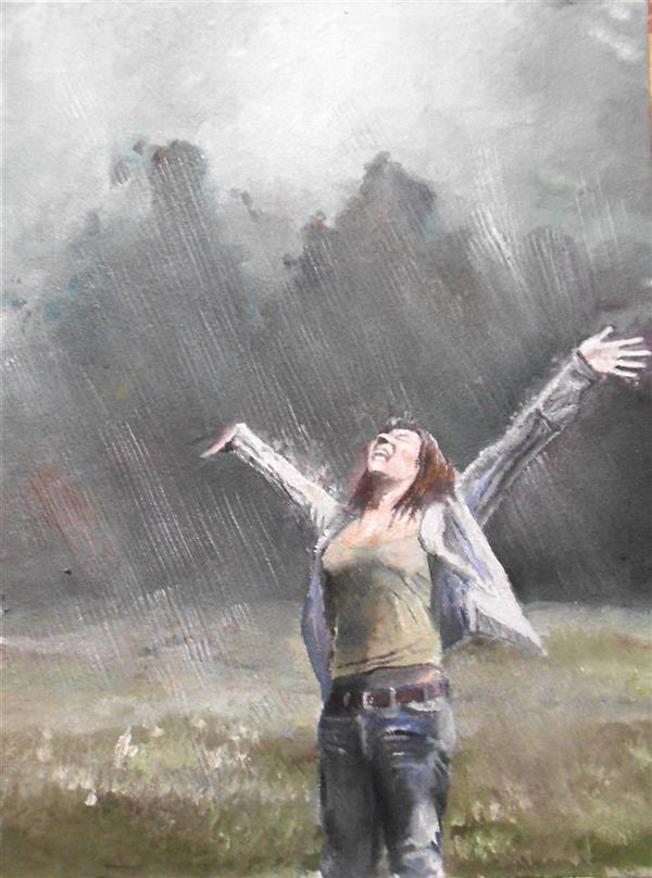 هنر نقاشی و گرافیک محفل نقاشی و گرافیک saeid saadat باران - رنگ و روغن - بوم فشرده - 1398 - سعید سعادت