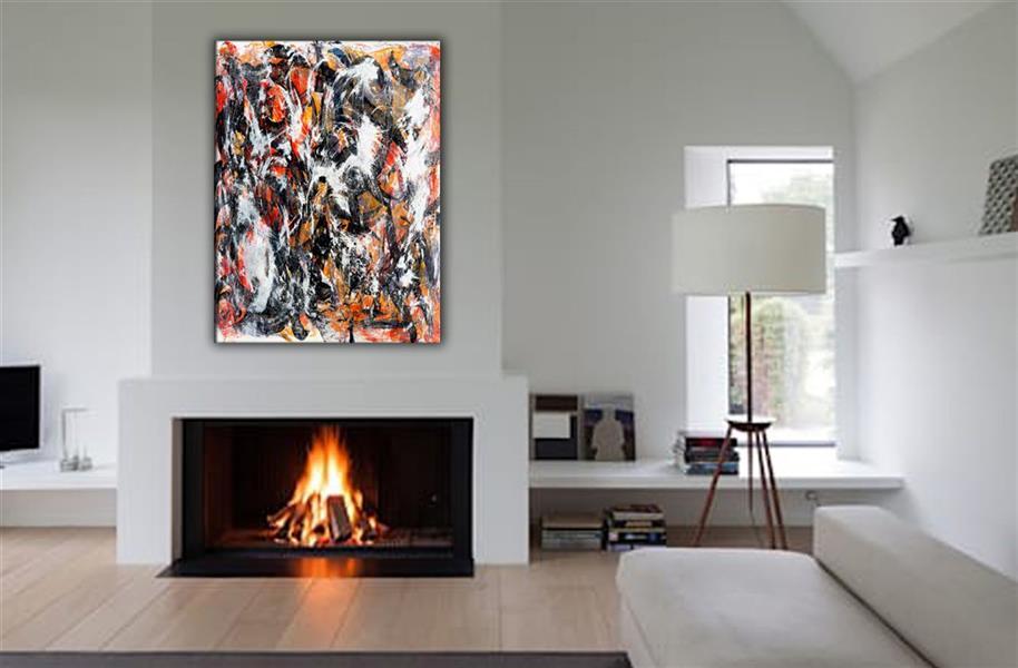 هنر نقاشی و گرافیک محفل نقاشی و گرافیک AthenaFaraji تکنیک ترکیب مواد و آکریلیک روی بوم با لایه محافظ ابعاد ۱۲۰ * ۸۰ سانتیمتر  قابلیت قاب شدن با هزینه خریدار.