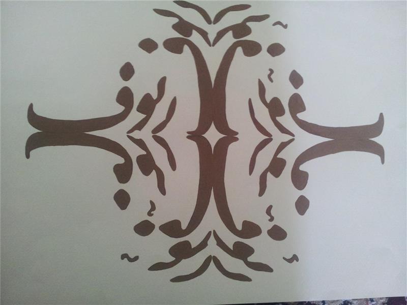 هنر نقاشی و گرافیک محفل نقاشی و گرافیک Zeynab zibaei اسماء الله  به صورت آینه ای طراحی دست