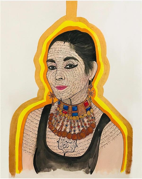 هنر نقاشی و گرافیک محفل نقاشی و گرافیک ShaHeeN keshavarz #آبرنگ   #اکرلیک شیر زن #شاهین_کشاورز