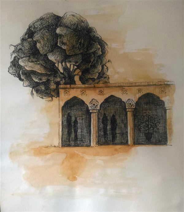 هنر نقاشی و گرافیک محفل نقاشی و گرافیک ab-derakhshan #راپید #آبرنگ 30*40 #آدمک ها