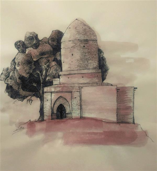 هنر نقاشی و گرافیک محفل نقاشی و گرافیک ab-derakhshan #راپید#آبرنگ 30*40 #آدمک ها