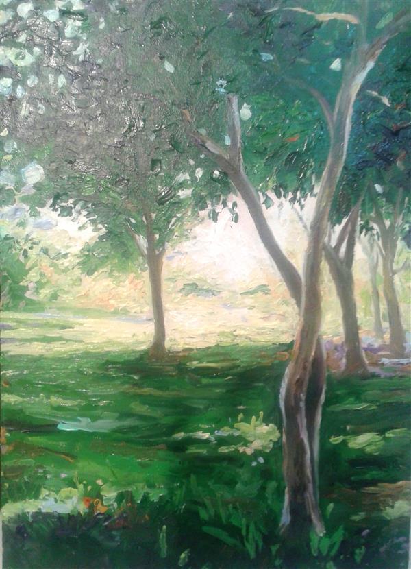 هنر نقاشی و گرافیک محفل نقاشی و گرافیک ab-derakhshan #رنگ روغن ۳۰*۴۰ #منظره
