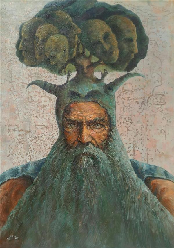 هنر نقاشی و گرافیک محفل نقاشی و گرافیک ab-derakhshan #ترکیب مواد#بوم دیپ#۱۳۹۹#مجموعه ی آدمک ها #رستاخیز درون