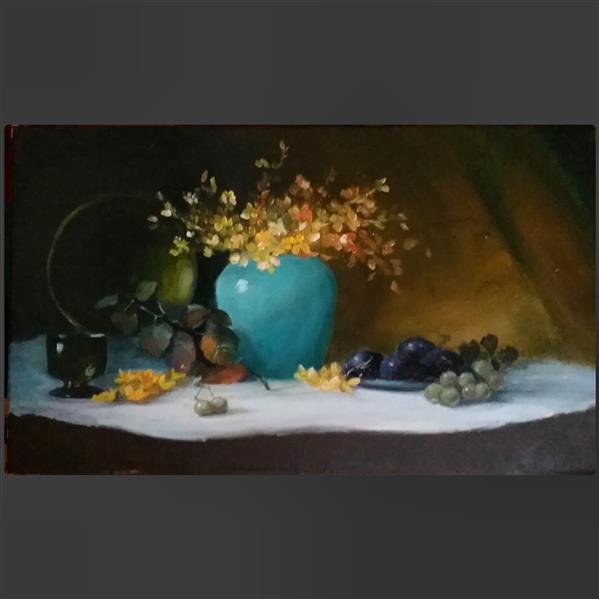 هنر نقاشی و گرافیک محفل نقاشی و گرافیک مرجانه باغبان رنگ روغن .سایز ۳۰ در ۴۰