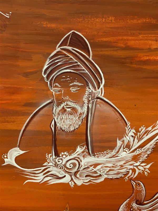 هنر نقاشی و گرافیک محفل نقاشی و گرافیک شهین قیدر شاداتى نام اثر: #عشق آفرینان #ای نسخه نامه #الهی که تویی ای#آیینه جمال#شاهی که تویی #بیرون زتو نیست هرچه در #عالم هست #ازخود بطلب هرآنچه #خواهی که تویی #مولانا