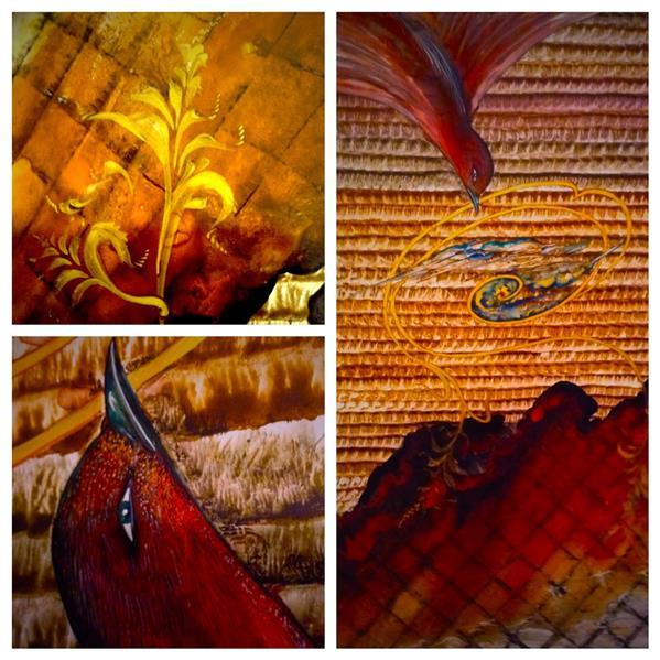 هنر نقاشی و گرافیک محفل نقاشی و گرافیک شهین قیدر شاداتى عنوان اثر؛ تجلی عشق سایز :۵۰/۷۰ تکنیک:گواش و ابرنگ از #مجموعه#گنج سفر