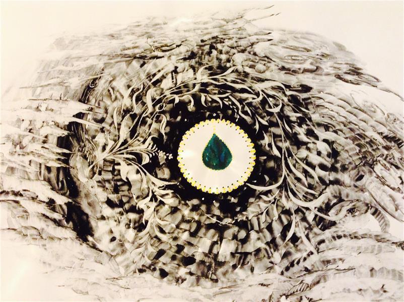 هنر نقاشی و گرافیک محفل نقاشی و گرافیک شهین قیدر شاداتى عنوان اثر: جوهر وجودی سایز: a3 تکنیک :گپاش وآبرنگ متریال لمینیت شده ازمجموع گنج سفر