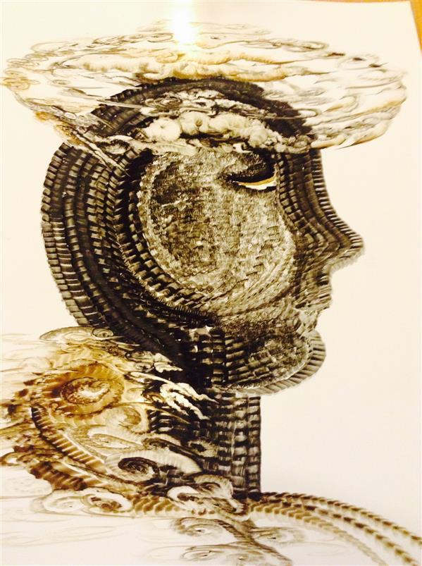 هنر نقاشی و گرافیک محفل نقاشی و گرافیک شهین قیدر شاداتى نام اثر: #انسان از#منظری#دیگر سایز:a3  #لمینیت شده برداشت من از مطالعه کتاب #انسان از #منظری دیگر  تکنیک :گواش وآبرنگ #مجموعه #گنج سفر
