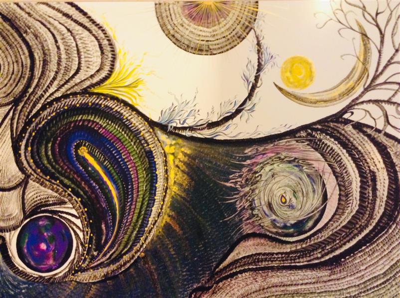 هنر نقاشی و گرافیک محفل نقاشی و گرافیک شهین قیدر شاداتى عنوان اثر: بی نام سایز:۵۰/۷۰ تکنیک :گواش و آبرنگ ازمجموعه گنج سفر
