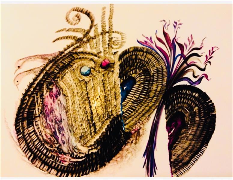 هنر نقاشی و گرافیک محفل نقاشی و گرافیک شهین قیدر شاداتى عنوان اثر : قلب ها حقیقت را میدانند سایز a3 تکنیک:گواش و آبرنگ لمینیت شده از مجموعه گنج سفر