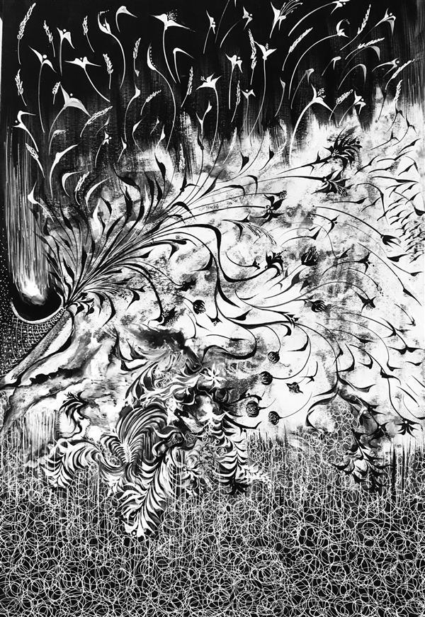 هنر نقاشی و گرافیک محفل نقاشی و گرافیک شهین قیدر شاداتى نام اثر#آرام....آرام سایز :۴۰/۵۰ سبک:مدرن تکنیک :گواش متریال :گلاسه شاسی شده رویmdf قاب شده  چه خوب است #چیرگی#راستی ب # کژی دروغ