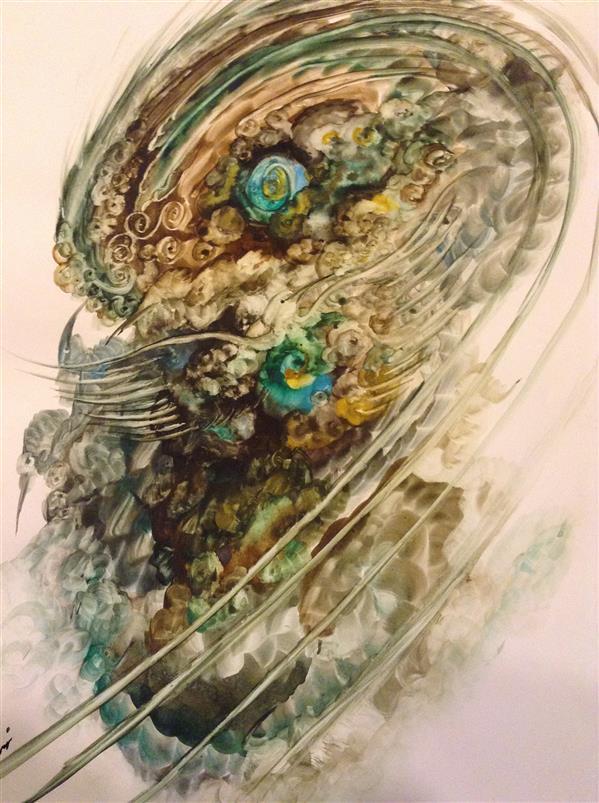 هنر نقاشی و گرافیک محفل نقاشی و گرافیک شهین قیدر شاداتى عنوان اثر:#حیات سایز:a3 تکنیک:گواش وآبرنگ #لمینیت#شده از #مجموعه #گنج سفر#