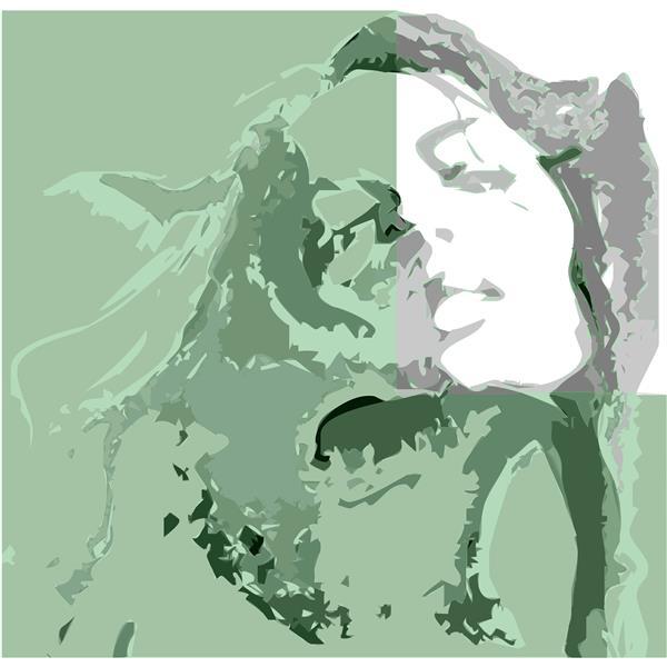 هنر نقاشی و گرافیک محفل نقاشی و گرافیک سام کاویانی کاری از مجموعه آفتاب ، ابعاد ۷۵×۷۵ متریال ترکیبی از چاپ سیلک و اکرلیت