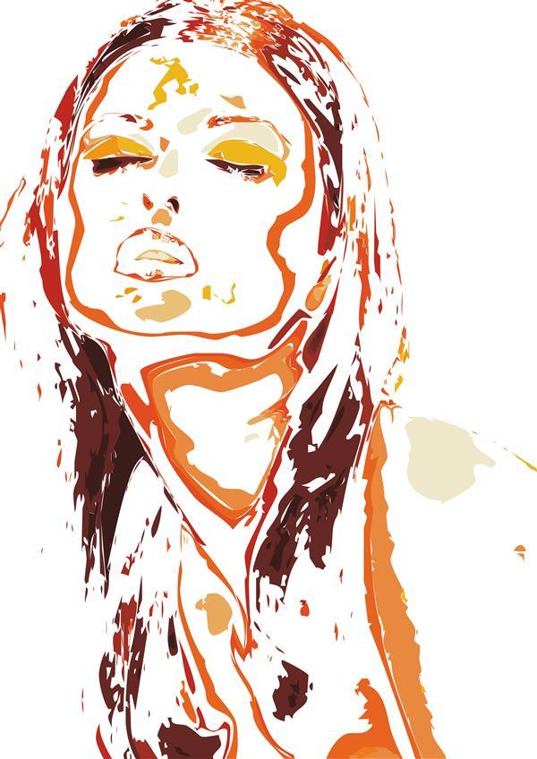 هنر نقاشی و گرافیک محفل نقاشی و گرافیک سام کاویانی مادر ؛ از مجموعه آفتاب ، اندازه تابلو ۱۰۰×۷۰ ترکیبی از چاپ سیلک و گواش