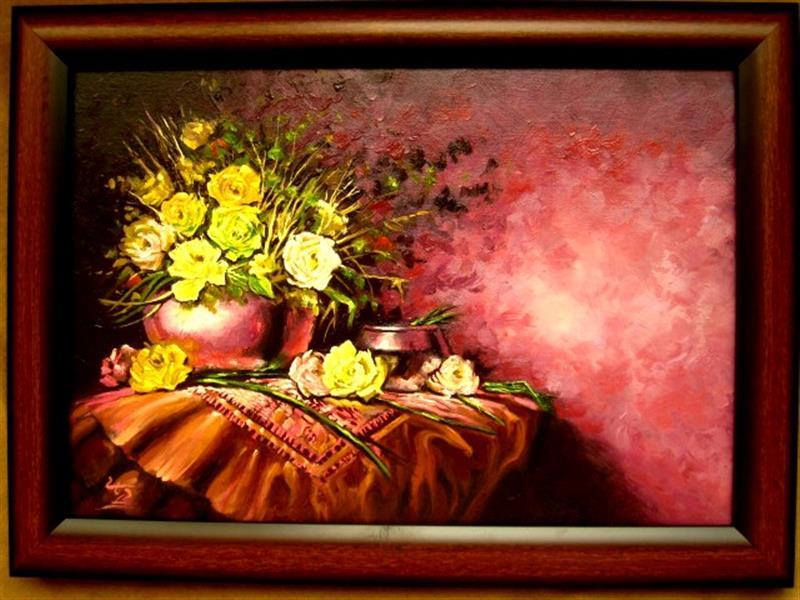 هنر نقاشی و گرافیک محفل نقاشی و گرافیک آزیتا دریایی رنگ روغن روی فیبر سایزA4