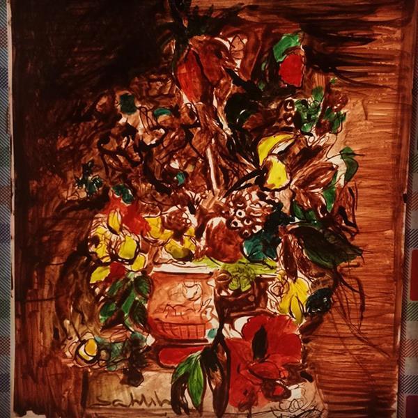 هنر نقاشی و گرافیک محفل نقاشی و گرافیک  samira vojdani نقاشی ذهنی  با قلم فلزی و مرکب بر روی کاغذ گلاسه در قطع A4