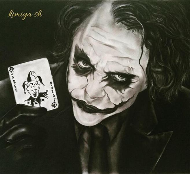 هنر نقاشی و گرافیک محفل نقاشی و گرافیک Kimiya honarvar سیاه قلم جوکر 50×70