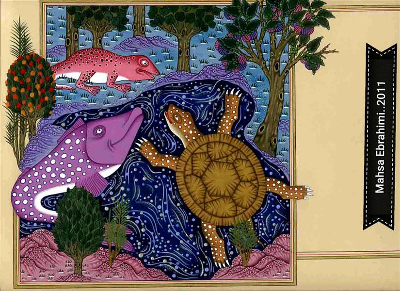 هنر نقاشی و گرافیک محفل نقاشی و گرافیک مهساابراهیمی مینیاتور.....براساس داستان...برگی از تصویرگری سه برای کتاب