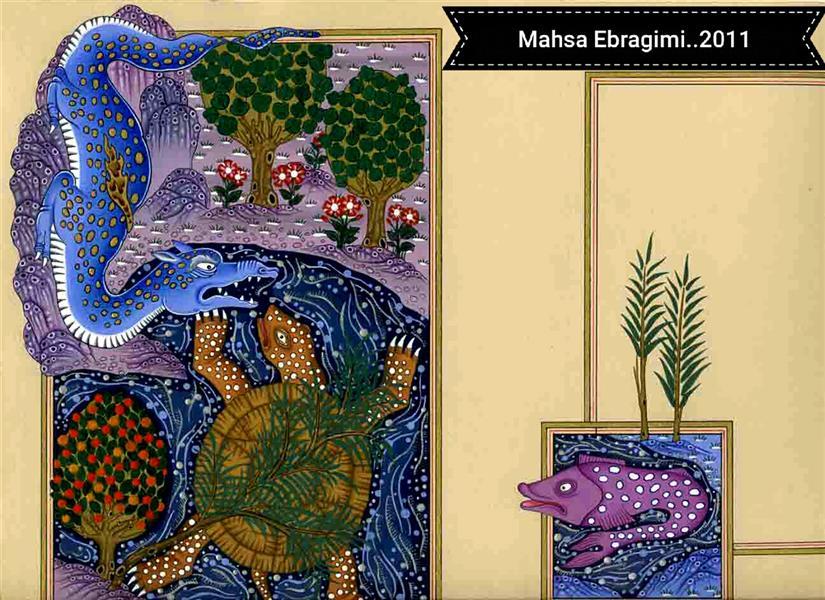 هنر نقاشی و گرافیک محفل نقاشی و گرافیک مهساابراهیمی مینیاتور براساس داستان.....برگی از داستان سه برگی