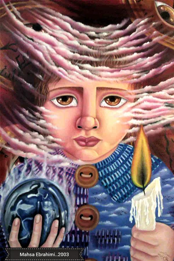 هنر نقاشی و گرافیک محفل نقاشی و گرافیک مهساابراهیمی سیاره مسکوت......تکنیک:رنگ روغن روی بوم