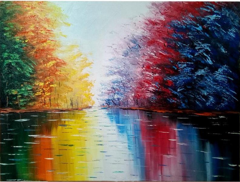 هنر نقاشی و گرافیک محفل نقاشی و گرافیک سید علی مهدوی تابلوی نقاشی تالاب بدون قاب است، زیرا انتخاب قاب برای این تابلو کاملا سلیقه ای بوده و خریدار خود می تواند به هر نحوی می خواهد آنرا انتخاب کند.