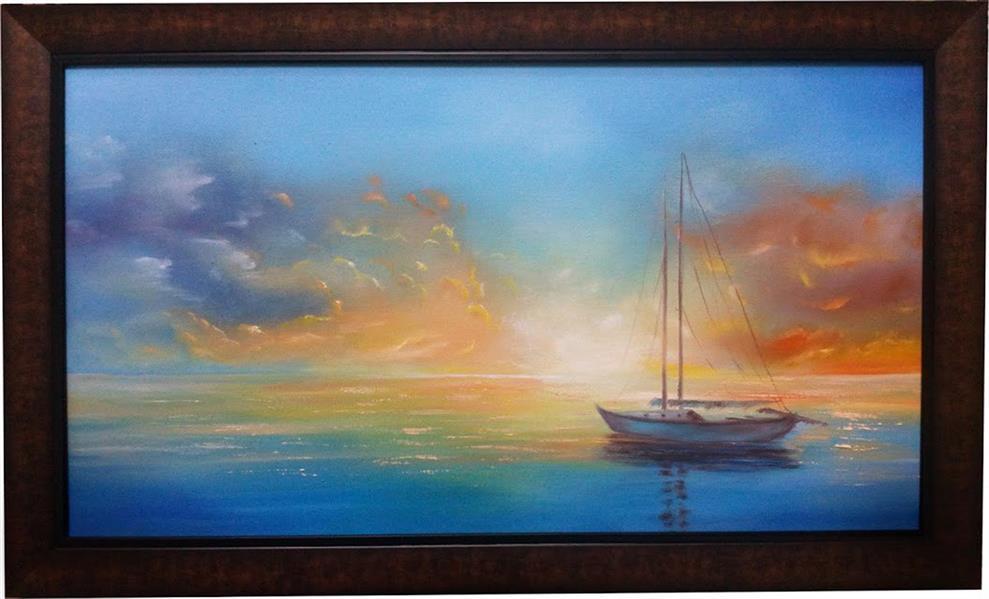 هنر نقاشی و گرافیک محفل نقاشی و گرافیک سید علی مهدوی رنگ روغن روی بوم  نام اثر آرامش البته تابلو فروخته شده است ولی در صورت سفارش دوباره خلق می شود.