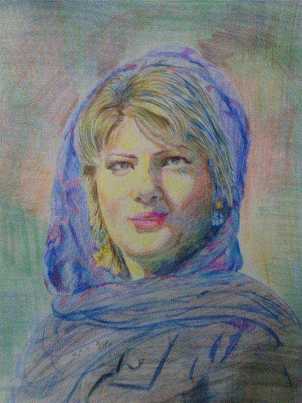 هنر نقاشی و گرافیک محفل نقاشی و گرافیک سید علی مهدوی نقاشی چهره تکنیک مداد رنگی، سفارش پذیرفته می شود.