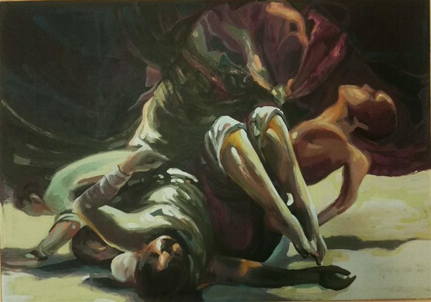 هنر نقاشی و گرافیک محفل نقاشی و گرافیک الهام حسین پور بدون عنوان، 132×99، آکریلیک، چهارچوب بدون شیب همراه با زهوار