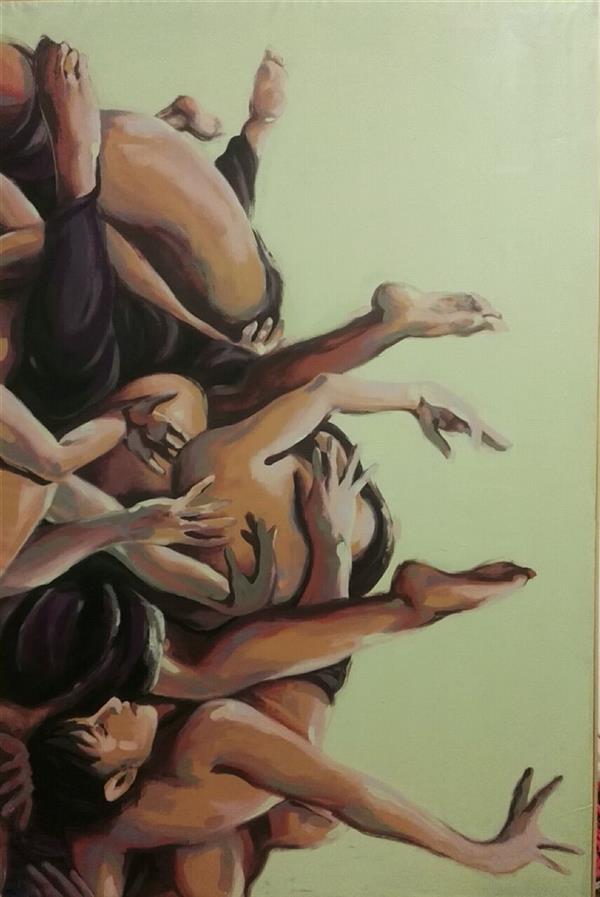 هنر نقاشی و گرافیک محفل نقاشی و گرافیک الهام حسین پور بدون عنوان، 139×90, آکریلیک، چهارچوب بدون شیب همراه با زهوار