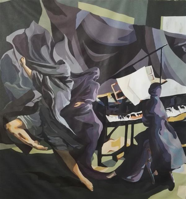 هنر نقاشی و گرافیک محفل نقاشی و گرافیک الهام حسین پور اندازه تقریبی ۱۲۰×۱۳۰، آکرلیک ، پارچه بوم #فروخته_شد