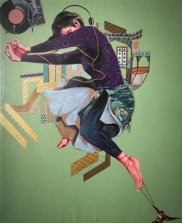 هنر نقاشی و گرافیک محفل نقاشی و گرافیک الهام حسین پور آکریلیک روی بوم، ۱۳۹۹, عنوان اثر:موزیک ، هنرمند: الهام حسین پور