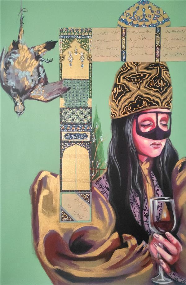 هنر نقاشی و گرافیک محفل نقاشی و گرافیک الهام حسین پور آکریلیک روی بوم، ۱۳۹۹, بدون عنوان_هنرمند: الهام حسین پور