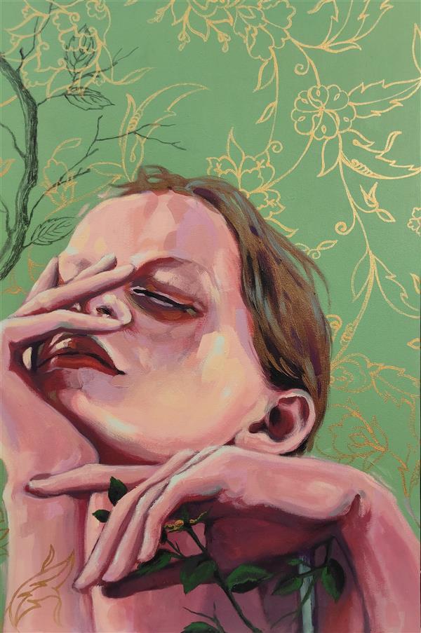 هنر نقاشی و گرافیک محفل نقاشی و گرافیک الهام حسین پور آکریلیک روی بوم، ۱۳۹۸,بدون عنوان_ هنرمند: الهام حسین پور