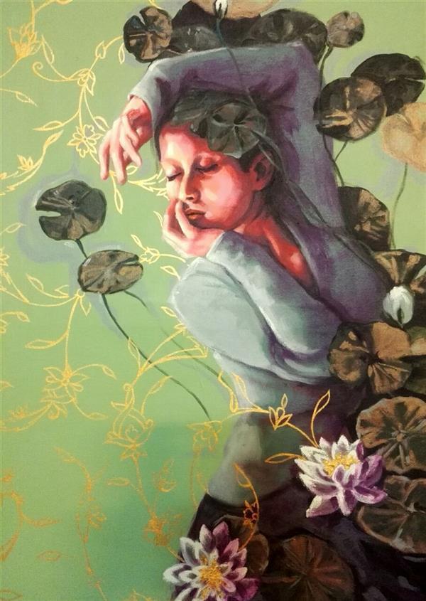 هنر نقاشی و گرافیک محفل نقاشی و گرافیک الهام حسین پور عنوان: مرداب، آکریلیک، ۷۰×۵۰ بوم