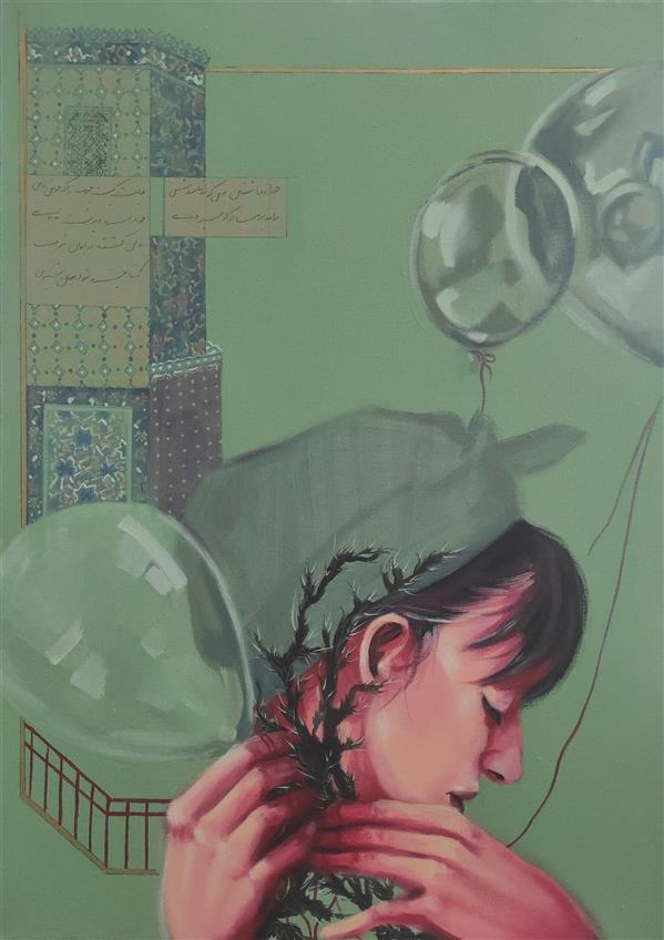 هنر نقاشی و گرافیک محفل نقاشی و گرافیک الهام حسین پور آکریلیک روی بوم، 1398, عنوان اثر:خار هنرمند:الهام حسین پور